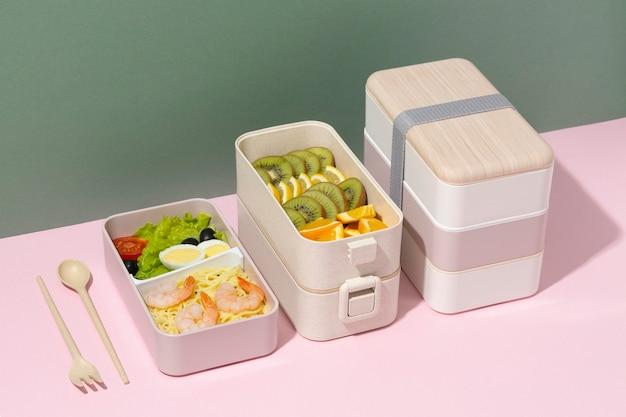 Japanische bento-box-komposition
