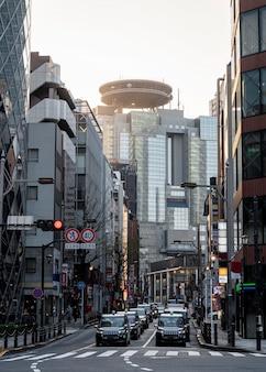 Japanische gebäude der stadtlandschaft