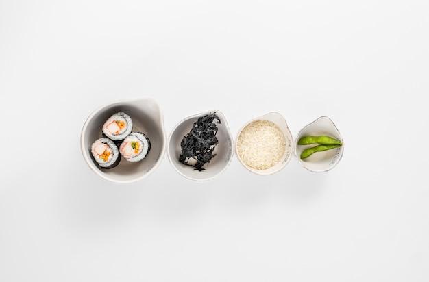 Japanische küche mischung von lebensmitteln