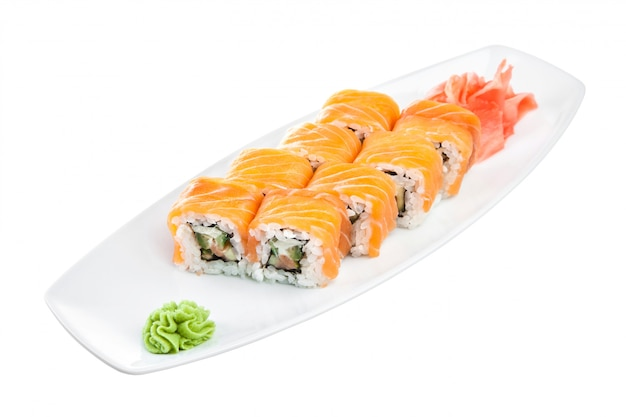 Japanische küche - sushi (roll unagi maki syake)