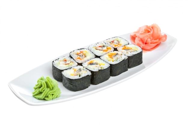 Japanische küche - sushi (roll unagi maki)