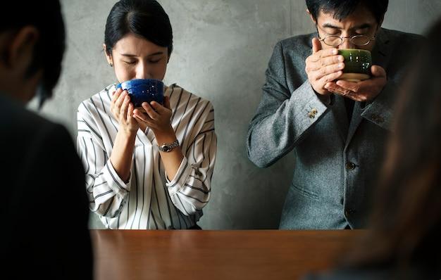 Japanische kultur der teezeremonie
