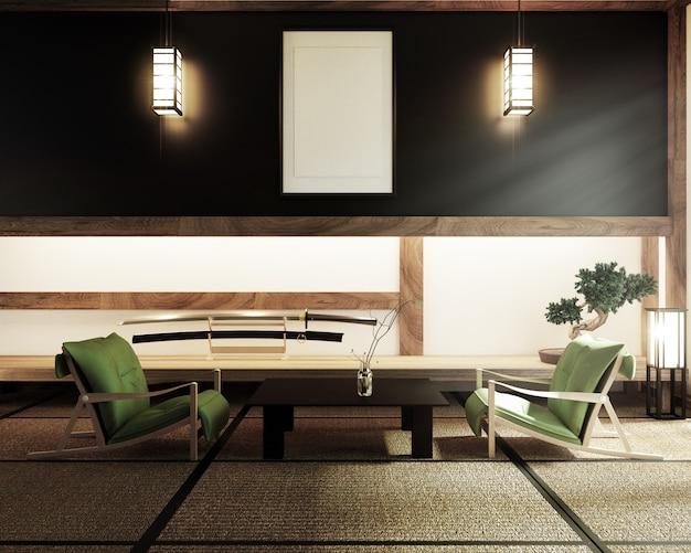 Japanische leere raum tatami matte