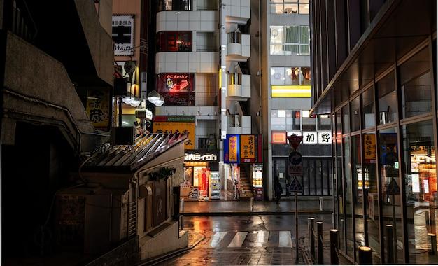 Japanische stadtlandschaft