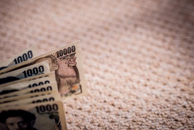 Japanische yen-banknoten schließen herauf schuss.