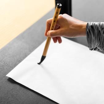 Japanischer schriftzug gemalt