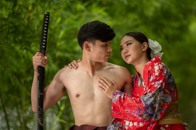 Japanisches antikes kostüm