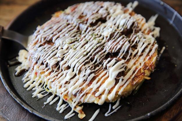 Japanisches essen okonomiyaki, japanische pizza?