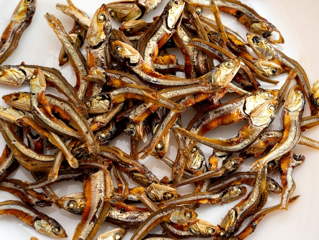 Japanisches gesundes essen. iriko fisch