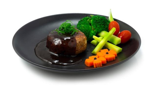 Japanisches hamburger steak oder hambagu steak