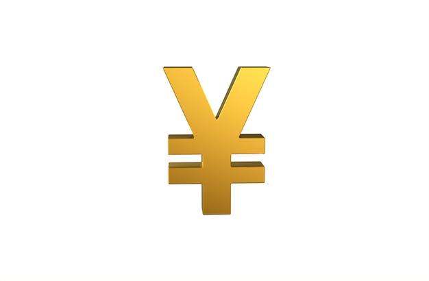 Japanisches währungssymbol yen in 3d