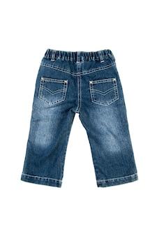 Jeans getrennt über weißem hintergrund