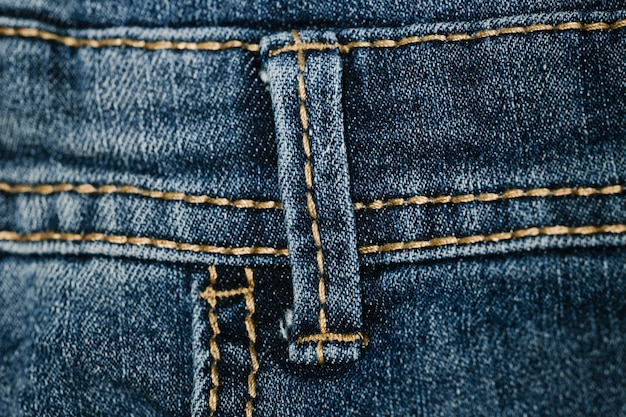 Jeansgürtelschleifennahaufnahme