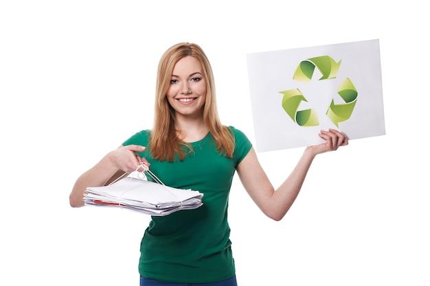Jeder ist für das recycling verantwortlich