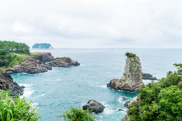 Jeju-do oedolgae rock auf der insel jeju,