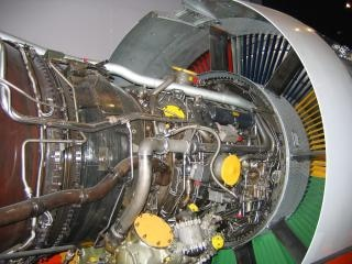 Jet motors, der turbine