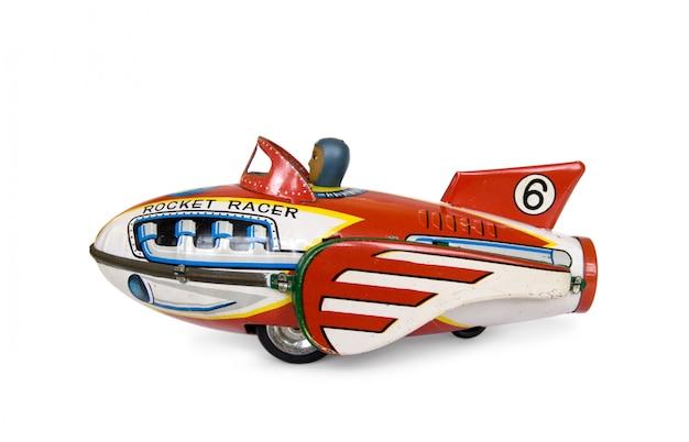 Jet toy: altes rostiges spielzeugflugzeug - makro