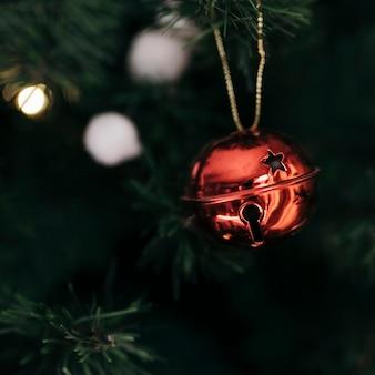 Jingle glockenverzierung des weihnachtsbaumes