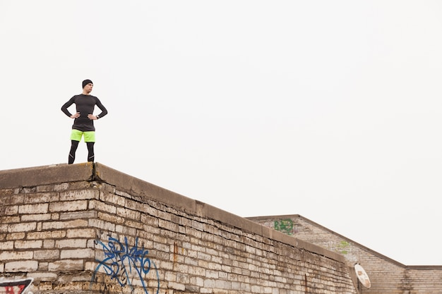 Jogger auf dem dach