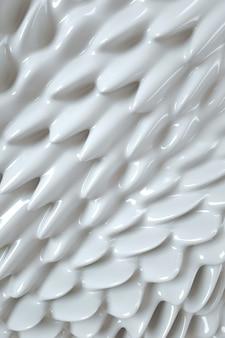 Joghurtcreme oder abstrakte textur 3d-darstellung von flüssiger weißer farbe gewellter flussmusterhintergrund