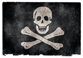 Jolly roger grunge flag