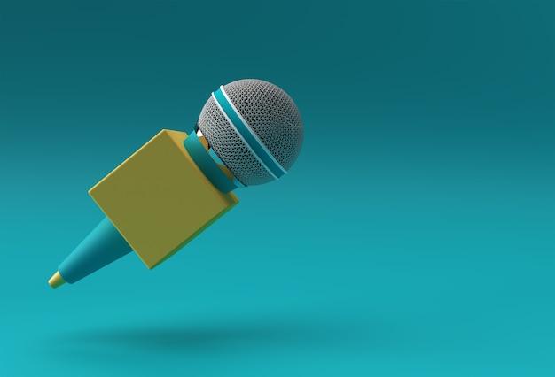 Journalismus-konzept. live-nachrichten 3d-rendering-hintergrund