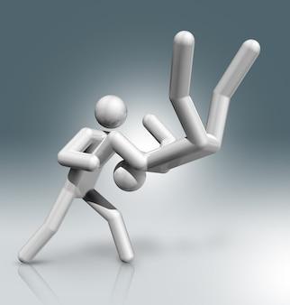 Judo 3d charakter, olympische sportarten
