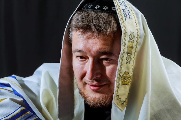 Jüdischer mann jüdischer feiertag, feiertagssymbol, jüdisches feiertagssymbol,
