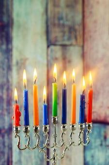Jüdisches symbol chanukka, feiertag das lichterfest