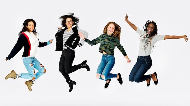 Jugend fröhlich zusammen positivität gesellschaft