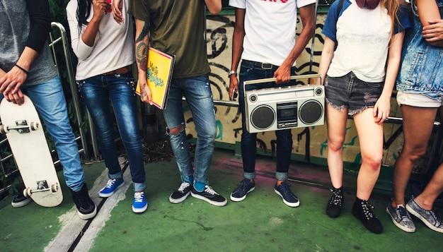 Jugendstil-zufälliges kultur-jugend-art-konzept