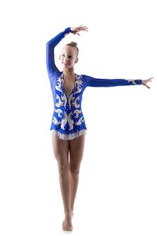 Junge ballerina tanzen