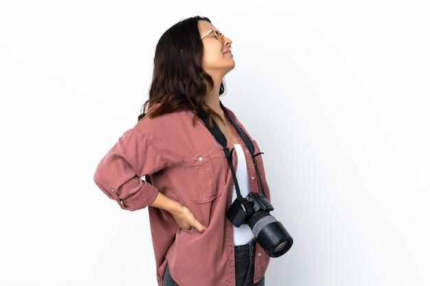Junge fotografin frau