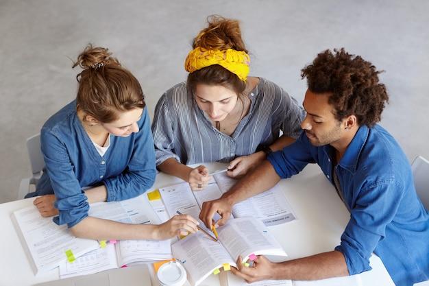 Junge kollegen arbeiten im cafe zusammen