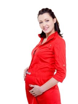 Junge schöne schwangere frau