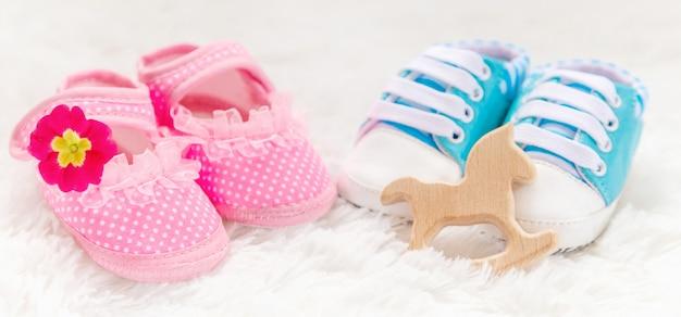 Jungen oder mädchen zubehör neugeborenes baby.