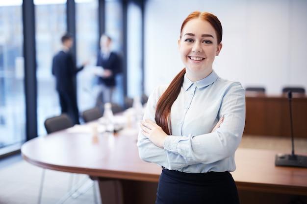 Junger business student