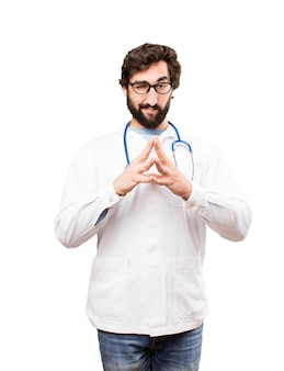 Junger doktor mann planung