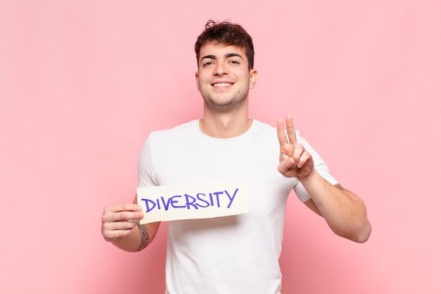 Junger schöner mann, diversity-konzept