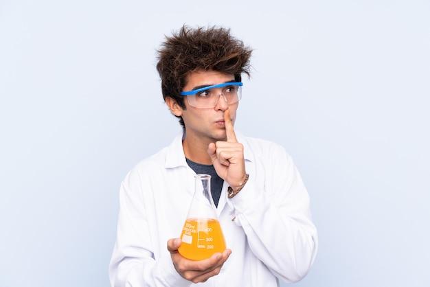 Junger wissenschaftlicher mann