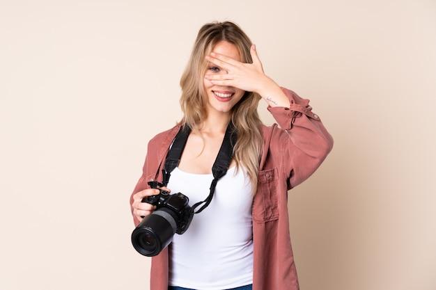 Junges fotograf mädchen