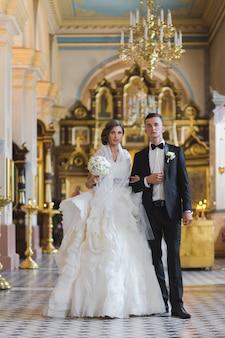 Junges paar gerade geheiratet