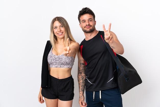 Junges sportpaar