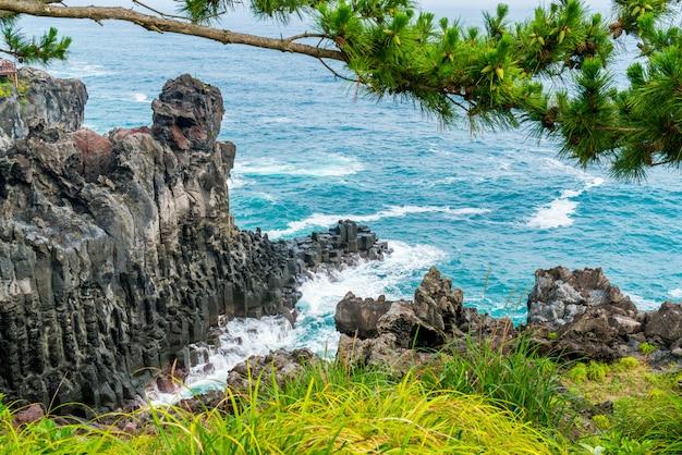 Jungmun daepo coast jusangjeolli-klippe, insel jeju