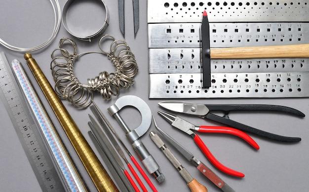 Juwelier werkzeuge hintergrund