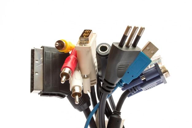 Kabel und stecker für computer
