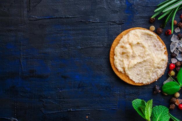 Kabeljau rogen meeresfrüchte halbfertige, kaviar kabeljau