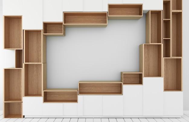 Kabinettmodell im modernen leeren raum