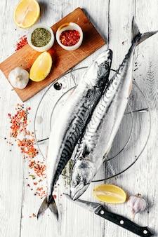Kadaver gefrorene makrelen