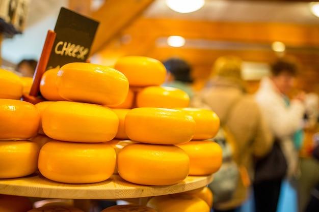 Käse holländisches rohstofflebensmittel in den niederlanden.